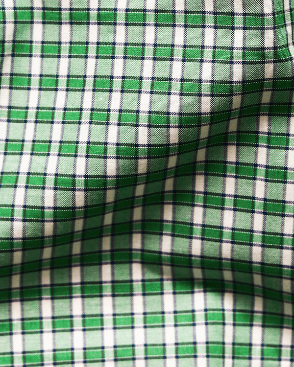 Green Mini Checked Shirt