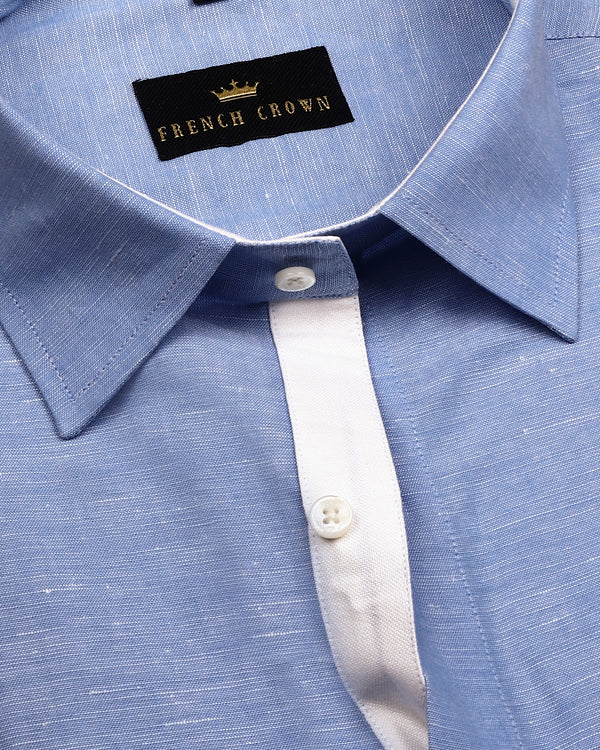 Sky Luxurious Linen Shirt
