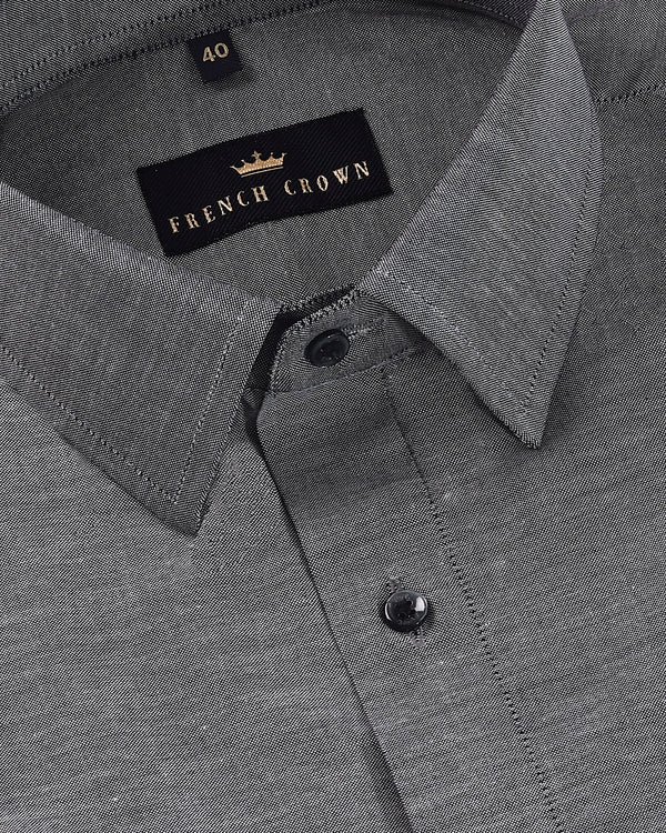 Dark Grey Royal Oxford Shirt