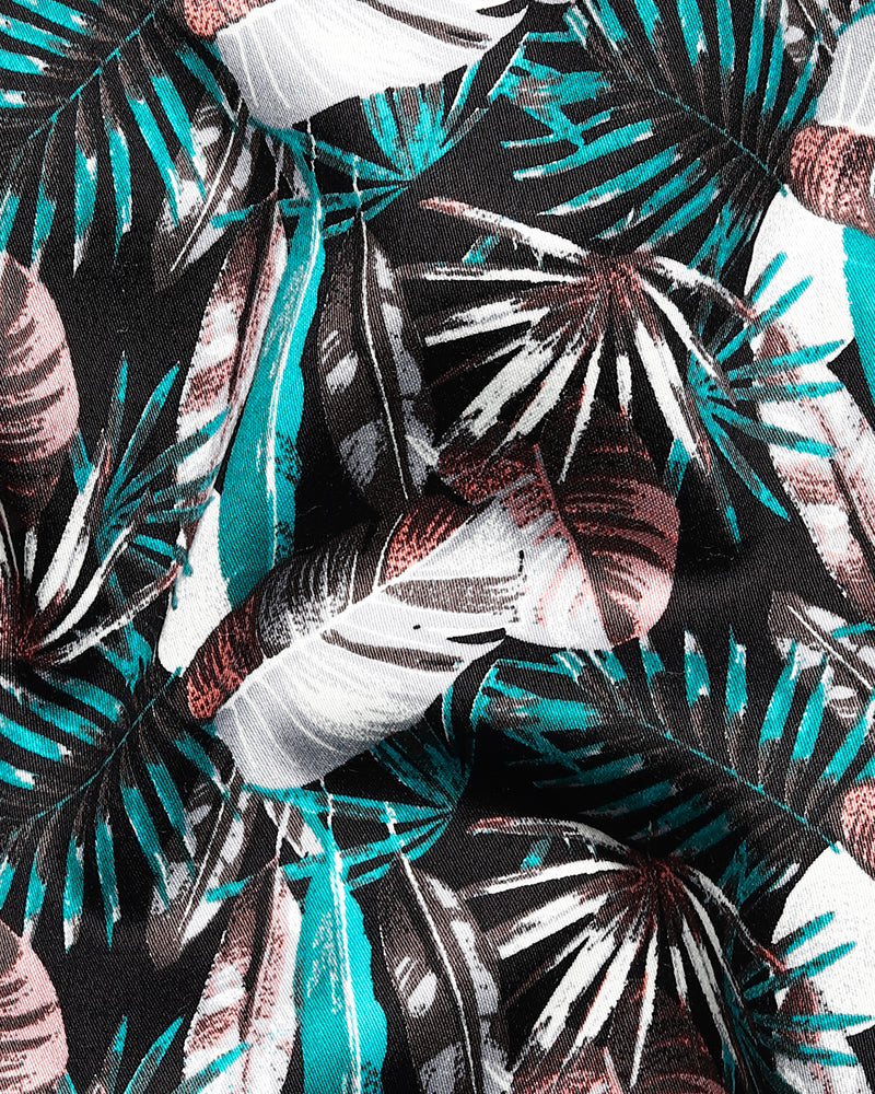 Vibrant Tropical Digital Print Super Soft Giza Cotton SHIRT