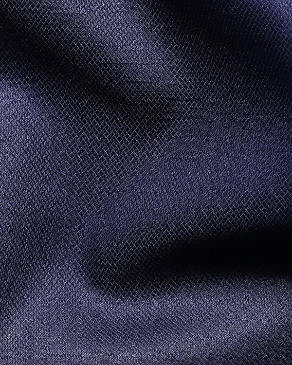Indigo Blue Diamond dobby Giza Cotton shirt
