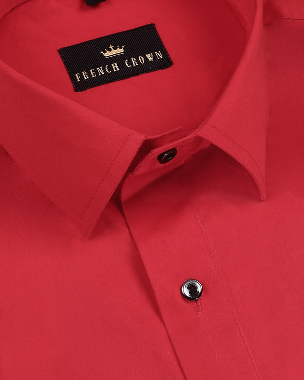 Cherry red Super Soft Giza Cotton SHIRT