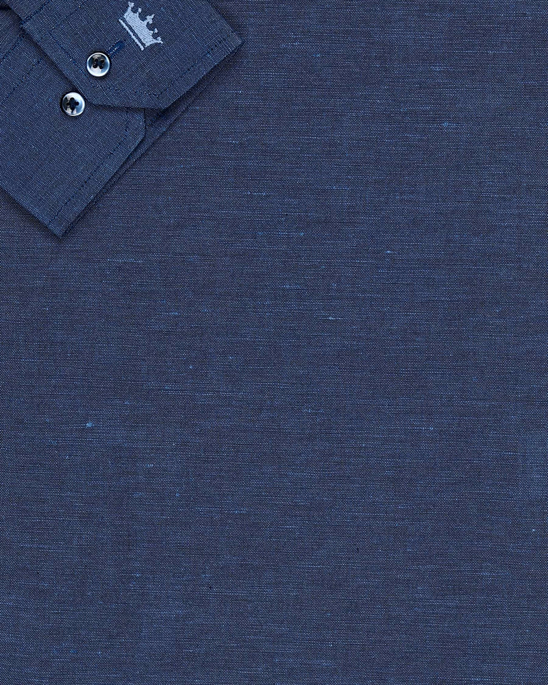 Navy luxurious Linen Shirt