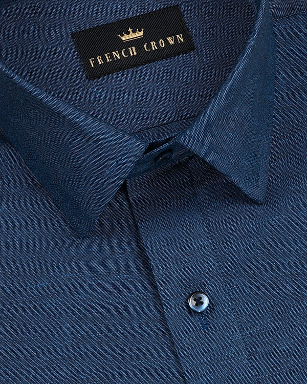 Navy luxurious Linen lightweight Shirt