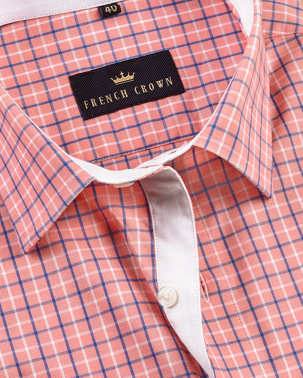 Pink Checked Crisp Premium Cotton Shirt