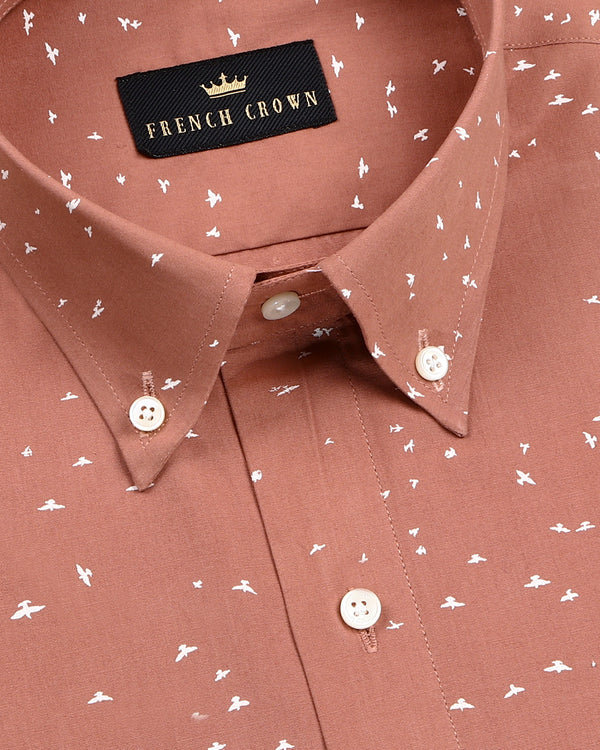 Rust Birds Printed Ultra Soft Cotton SHIRT