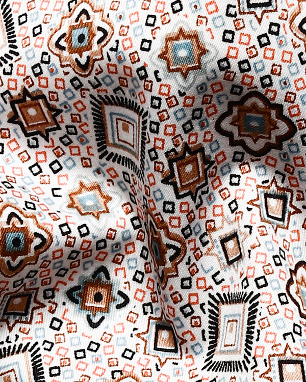 Congested Geometric Print Super Soft Giza Cotton SHIRT