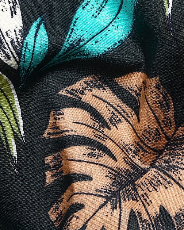 Sacramento Green Tropical Print Premium Cotton Shirt