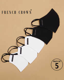 Earl-French Crown Pack Of 5 Cotton Masks