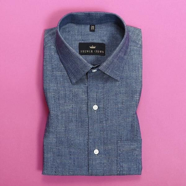 Denim Blue Chambray Shirt