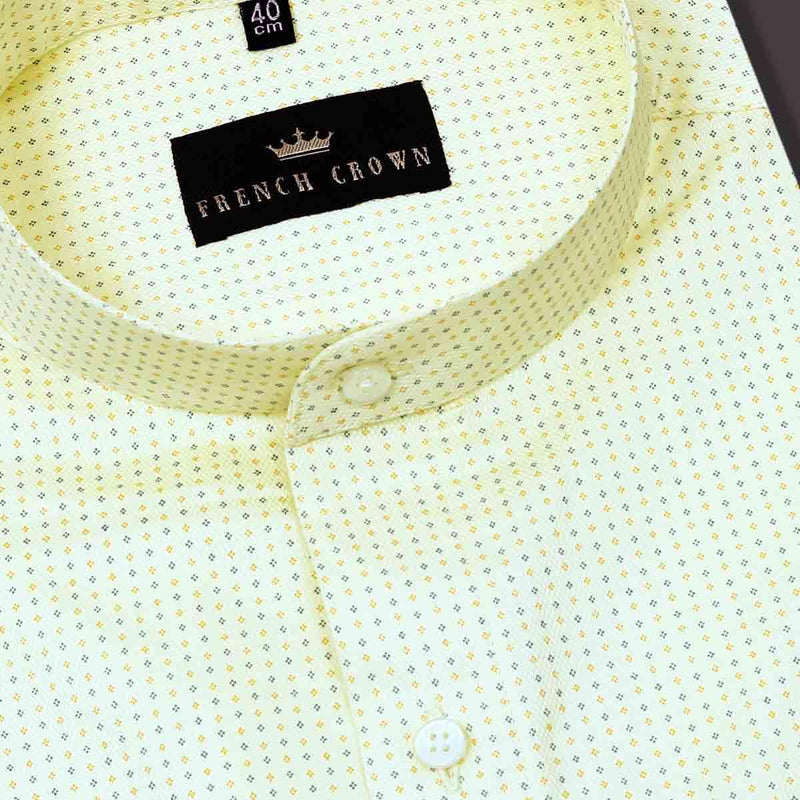 Lemon Yellow dobby shirt