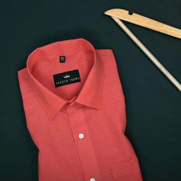 Pumpkin Orange Linen cotton SHIRT
