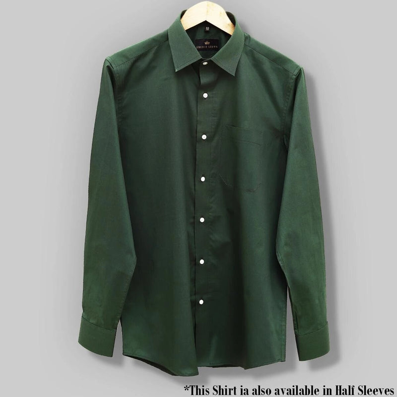 Grass Green Soft Satin Shirt