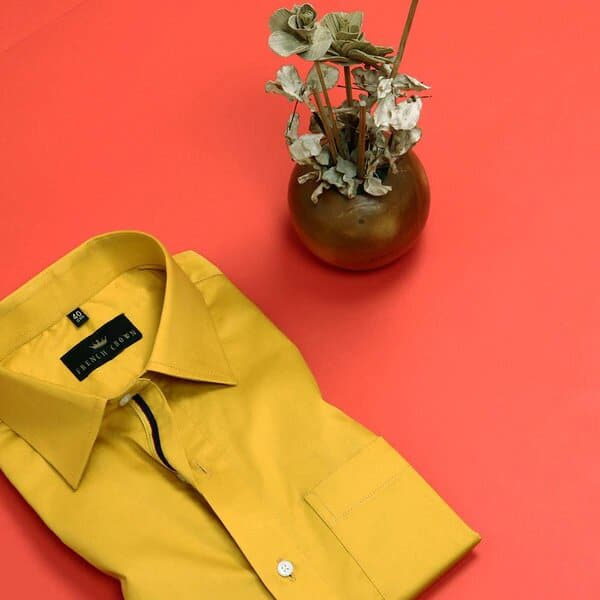 Mustard Yellow Soft Satin Shirt