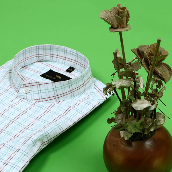 White multi checked Poplin Shirt