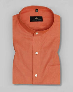 Carrot Orange solid filafil SHIRT