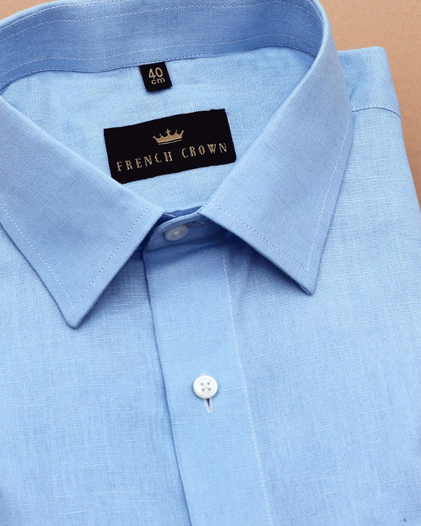 Sky Blue Linen cotton SHIRT