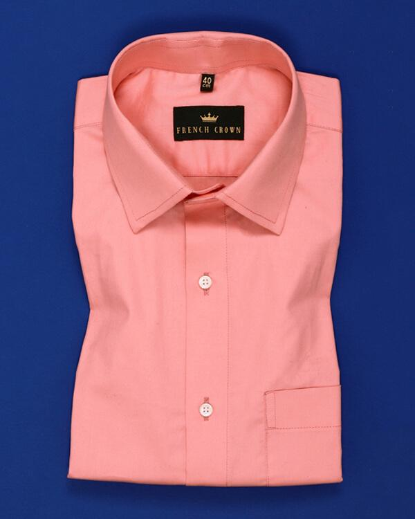 Peach Soft Satin Shirt