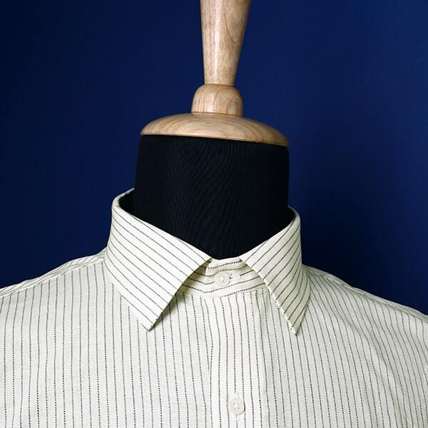White Striped Dobby Shirt