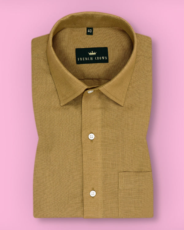 Mud Brown Linen cotton shirt