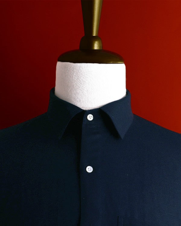 Denim Blue Luxurious Linen-cotton SHIRT