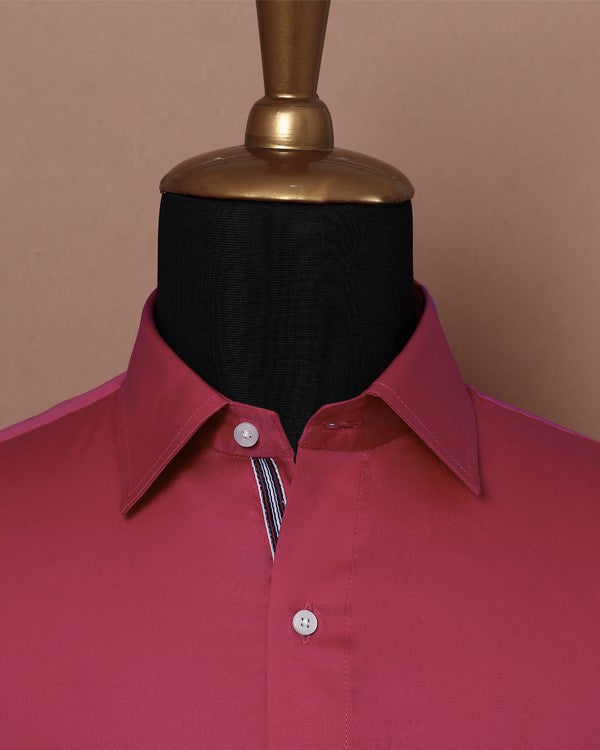 Strawberry Pink Soft Satin Shirt