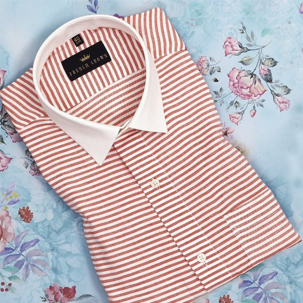 Rose Red Striped Twill SHIRT