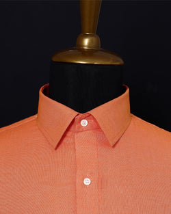 Papaya Orange Poplin Shirt