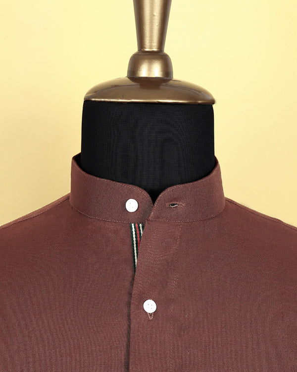 Rust Red Oxford Shirt