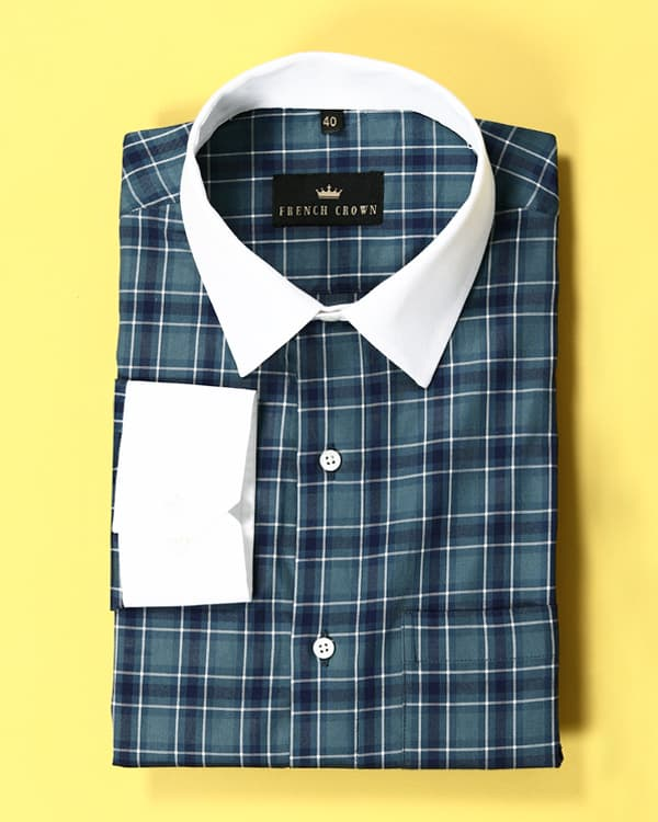 Duke Blue Checked Twill SHIRT