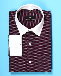 Boysenberry Purple Printed Poplin Shirt