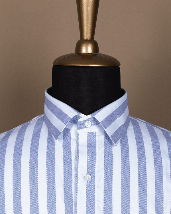 Sea Island Light Blue Bengal Stripes Shirt