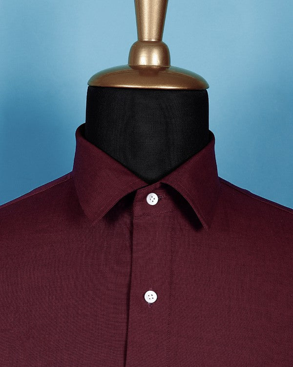 The Maroon Stretchable Shirt