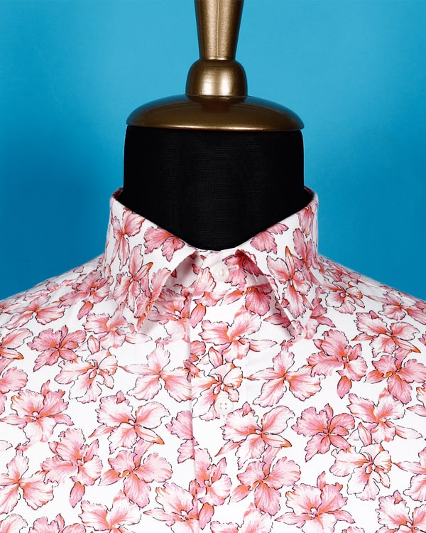 Carnation Flower Printed Twill SHIRT 🌸