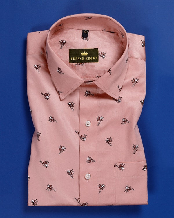 Spanish Carmine Printed Ultra Soft Shirt