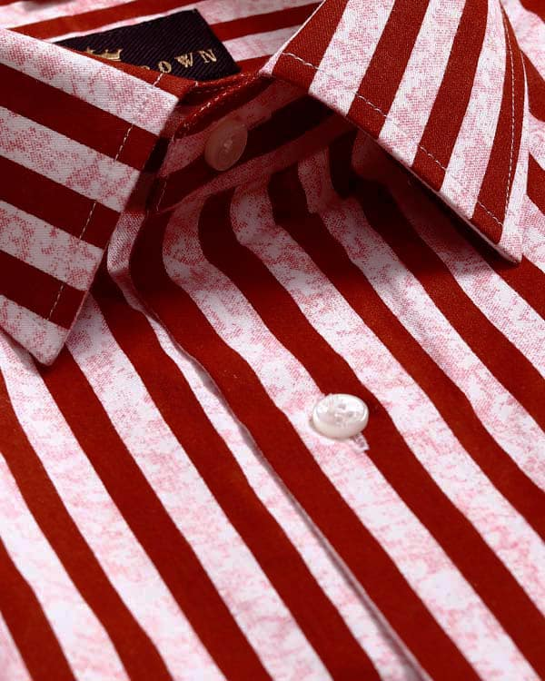 Red Striped Ultra soft Giza Cotton SHIRT