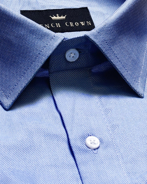👔Sky Blue Premium 2-ply Giza Cotton shirt