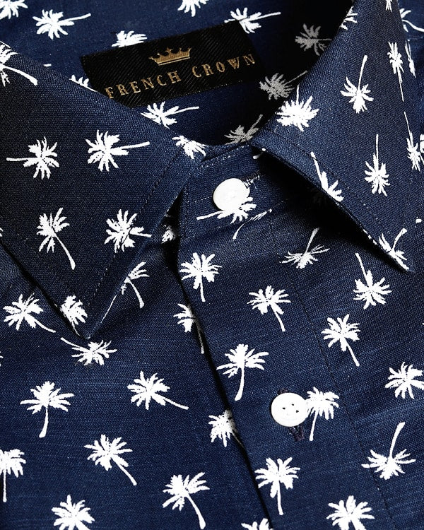 🌴The coconut tree Printed Royal Oxford Shirt