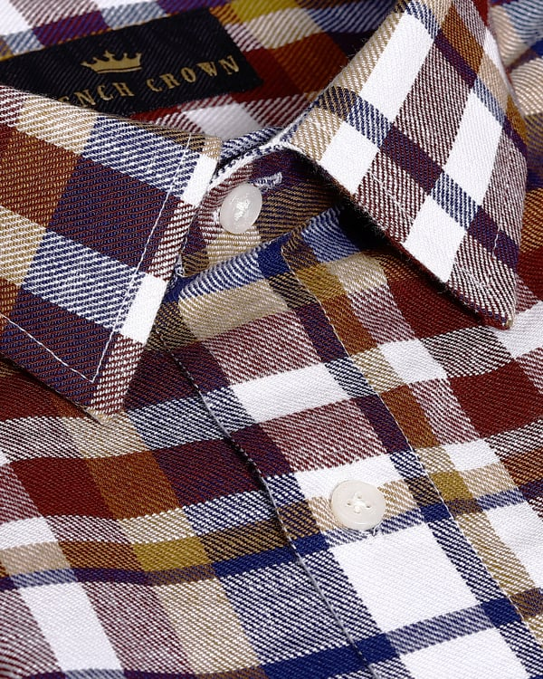 Multi-checked Flannel Cotton SHIRT