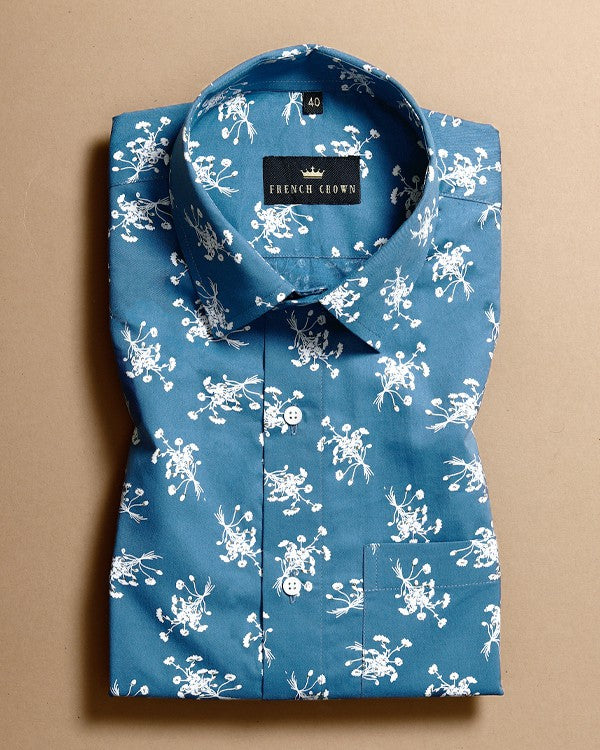 Olympic Blue Ultra Soft Cotton SHIRT