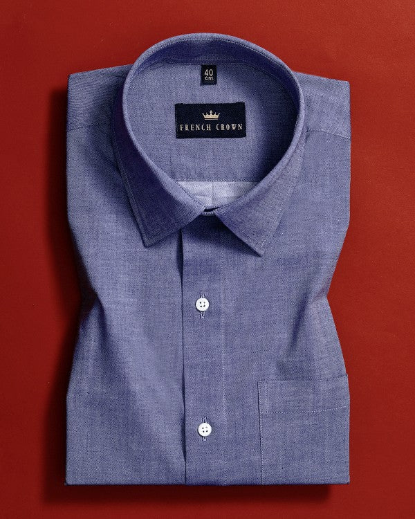 Denim Blue Premium Cotton Shirt