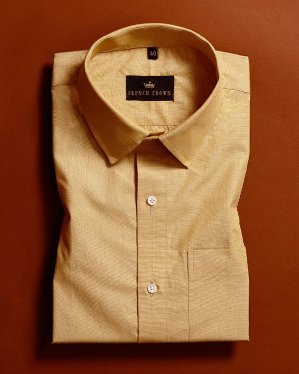 Mustard Premium Cotton Shirt