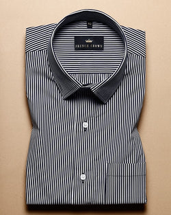 Black and white thin Striped Ultra soft Giza Cotton SHIRT