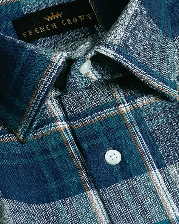 Multi-checked Herringbone Premium Cotton SHIRT