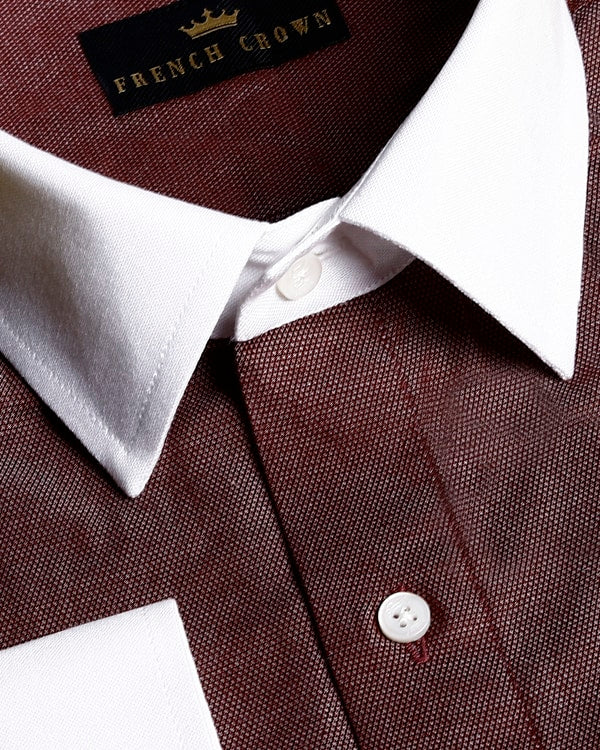 Oxblood Maroon Giza Cotton shirt