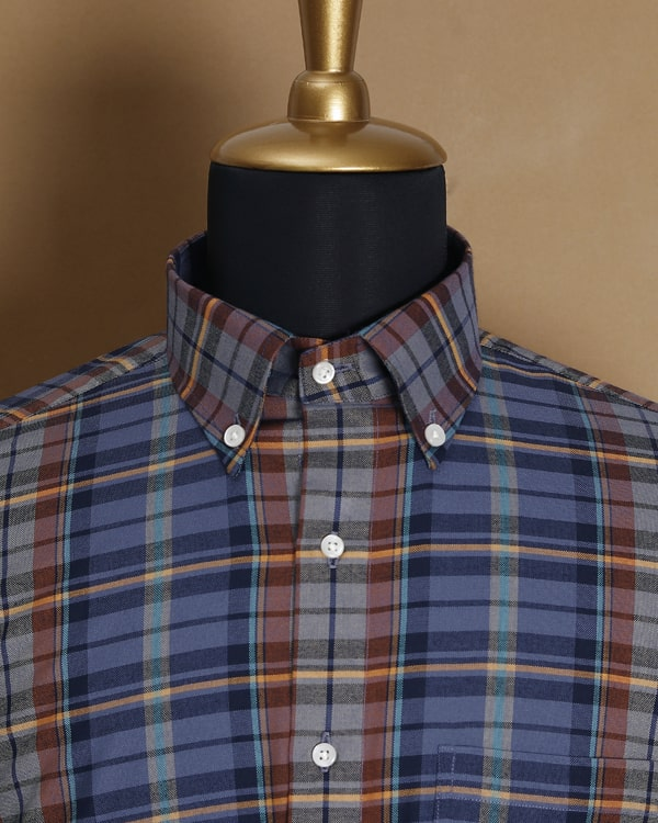 Dark Plaid Premium Cotton SHIRT