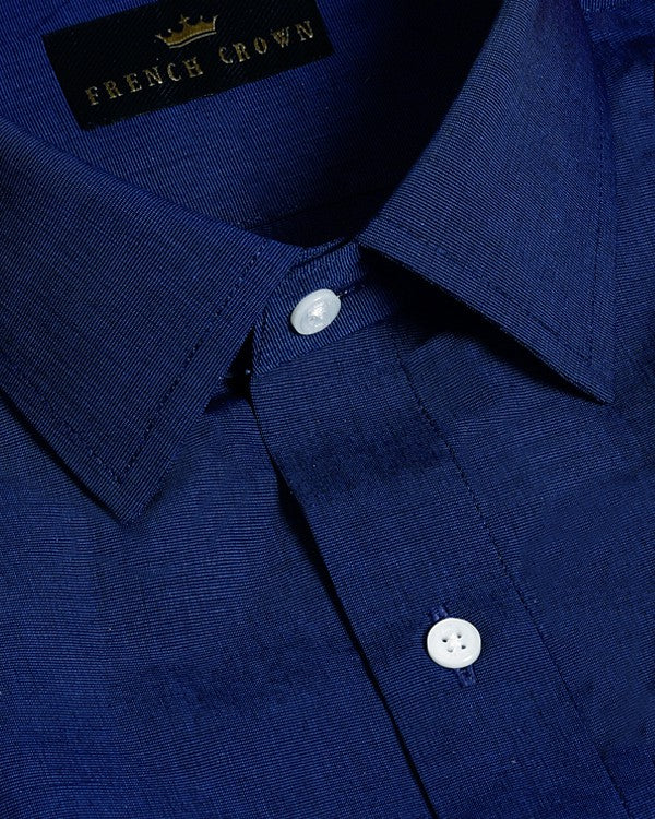 True Blue Premium Cotton Shirt