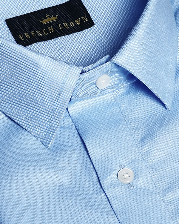 Mid Blue Giza Cotton shirt