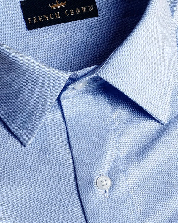 Sky Blue Premium Cotton Oxford Shirt