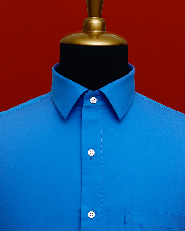 Clod Blue Premium Cotton Shirt
